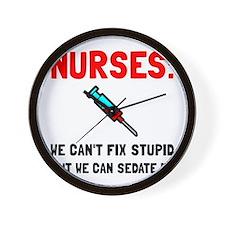 Nurses Sedated Wall Clock