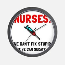 Nurses Sedated Wall Clock