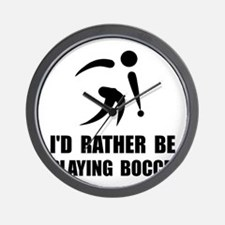 Rather Be Playing Bocce Wall Clock