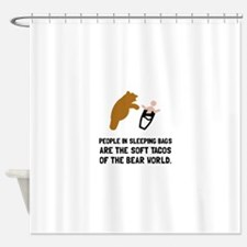 Soft Tacos Bear Shower Curtain