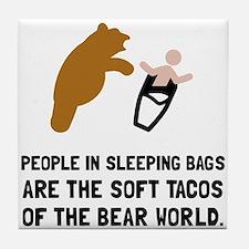 Soft Tacos Bear Tile Coaster