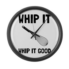Whip It Good Large Wall Clock