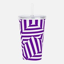 Purple Funk Stripe Acrylic Double-wall Tumbler