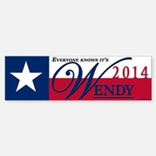 Wendy for Governor of Texas Bumper Bumper Bumper Sticker