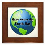 Make every day Earth Day Framed Tile