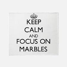 Unique Marbles Throw Blanket