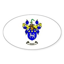 O'FLYNN Coat of Arms Oval Decal