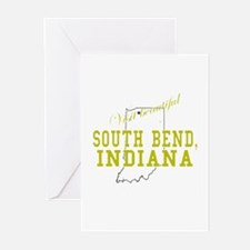 Visit Beautiful South Bend, I Greeting Cards (Pack
