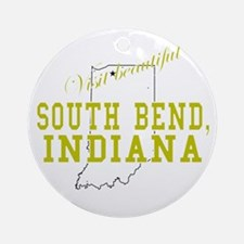 Visit Beautiful South Bend, I Ornament (Round)