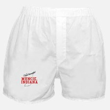 Visit Beautiful Muncie, India Boxer Shorts