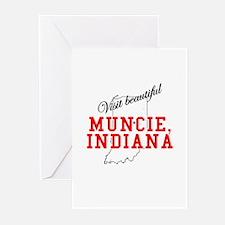 Visit Beautiful Muncie, India Greeting Cards (Pack
