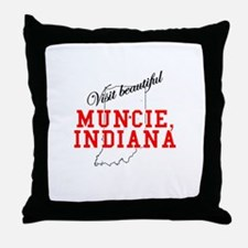 Visit Beautiful Muncie, India Throw Pillow
