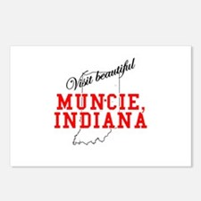 Visit Beautiful Muncie, India Postcards (Package o
