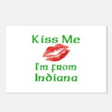 Kiss Me I'm from Indiana Postcards (Package of 8)