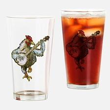Cute Chicken Drinking Glass