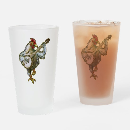 Cute Banjo Drinking Glass