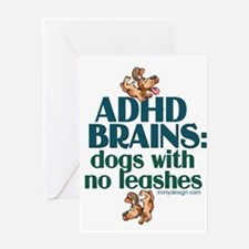 ADHD BRAINS Greeting Cards