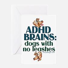 ADHD BRAINS Greeting Cards