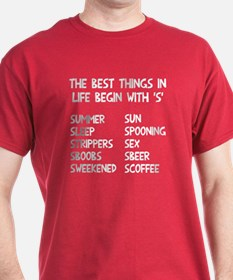 Best things start with S T-Shirt