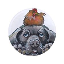 "Funny Dog art 3.5"" Button"