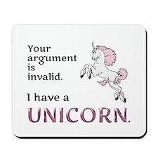 Unicorn Argument Mousepad