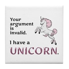 Unicorn Argument Tile Coaster
