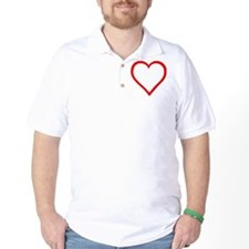 Red Heart Outline T-Shirt
