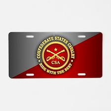 CSC-Confederate States Cavalry Aluminum License Pl