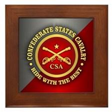 CSC-Confederate States Cavalry Framed Tile