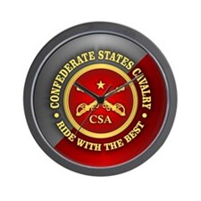 CSC-Confederate States Cavalry Wall Clock