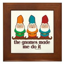 Cute Gnomes Framed Tile