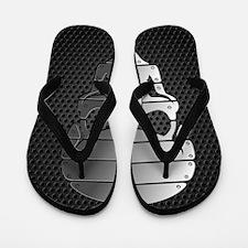 Chrome Skull Flip Flops
