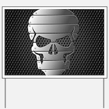 Chrome Skull Yard Sign