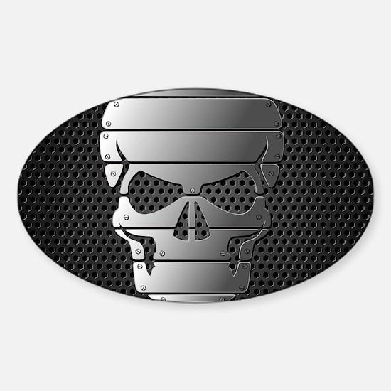 Chrome Skull Decal
