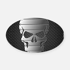 Chrome Skull Oval Car Magnet