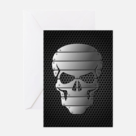 Chrome Skull Greeting Cards