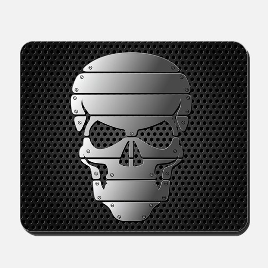 Chrome Skull Mousepad