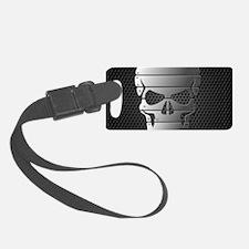 Chrome Skull Luggage Tag
