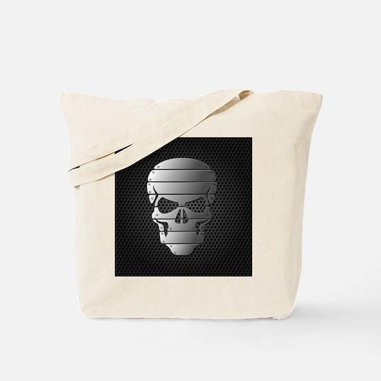 Chrome Skull Tote Bag