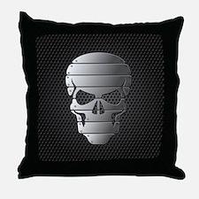 Chrome Skull Throw Pillow