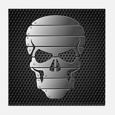 Chrome Skull Tile Coaster