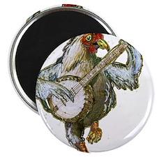 Banjo Chicken Magnets