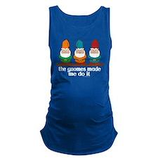 Cute Gnome slogan Maternity Tank Top