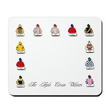 Triple Crown Silks Mousepad