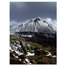 Mountain And Landscape, Ireland Framed Print