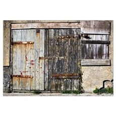 Old Wooden Door Of Building Canvas Art
