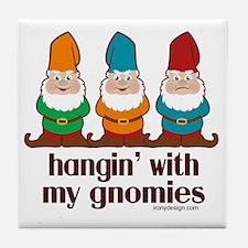 Cute Gnomes Tile Coaster