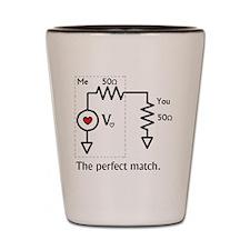 Nerdy Love: The Perfect Match Shot Glass