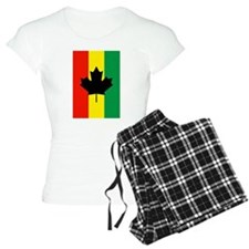 Rasta Reggae Maple Leaf Flag Pajamas