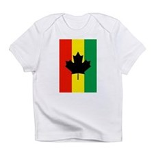 Rasta Reggae Maple Leaf Flag Infant T-Shirt
